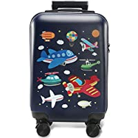 GURHODVO Kids Carry On Luggage Children Rolling Suitcase with 4 Wheels Hardshell Case for Toddler to Travel (airplane)