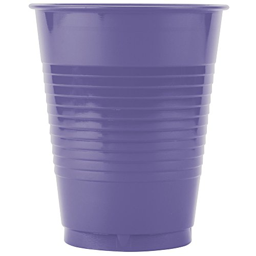Creative Converting 28115081 16 oz. Purple Plastic Cup - 20/Pack