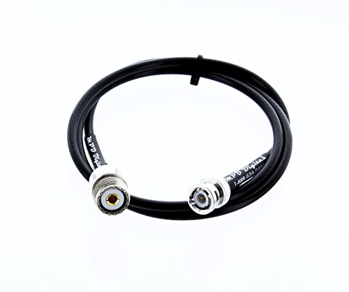 Times Microwave RF pigtail cable BNC male to UHF female LMR195 8 Feet | U.S.A. made by MPD Digital by Times Microwave