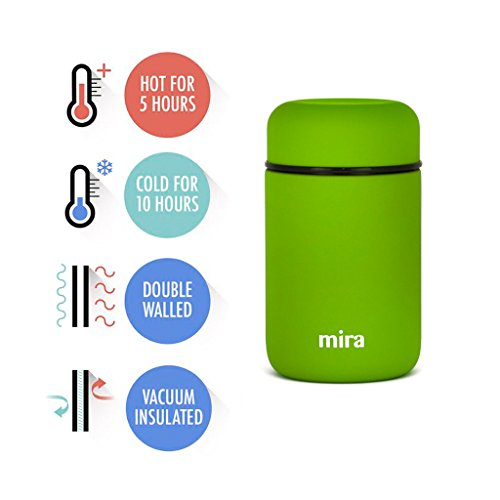 MIRA Lunch Food Jar pressure Insulated Stainless precious metal Lunch Thermos 135 Oz Cactus Green Thermoses
