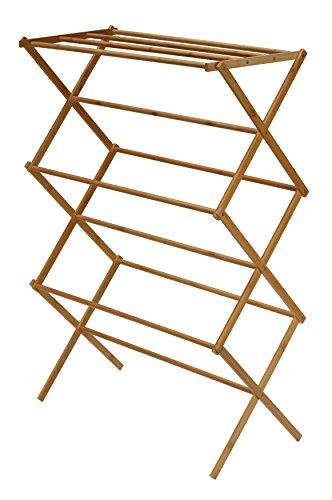 "Cortesi Home Eli Natural Bamboo Clothing Drying Rack, 28.5"""