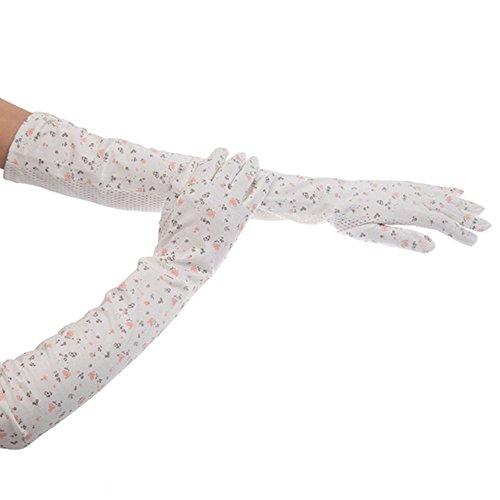 差し控える動物解くKenmont夏レディースSun UV保護アウトドアコットン100 %ロング駆動手袋