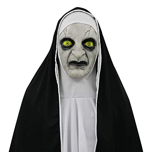 Halloween Scary Props The Conjuring Devil Nun Horror Masks with Costume ()