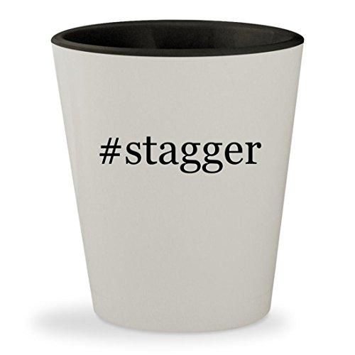 Price comparison product image #stagger - Hashtag White Outer & Black Inner Ceramic 1.5oz Shot Glass