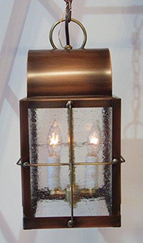 Concord Ceiling Pendant - Hutton Metalcrafts, Inc. Solid Copper Pendant Lantern, Made in USA. Concord