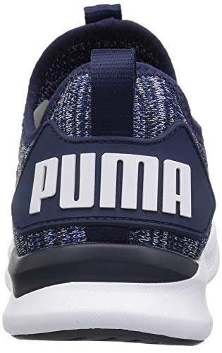 PUMA Unisex-Kids Ignite Flash Evoknit JR Sneaker, Peacoat-Turkish Sea White, 5 M US Big Kid by PUMA (Image #2)