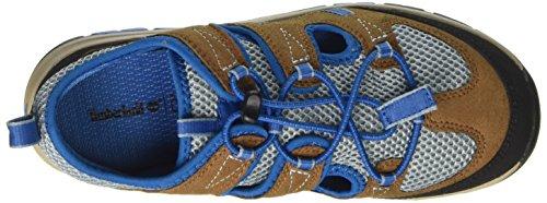 Timberland Zip Trail Fishermanbrown/Blue, Sandalias de Punta Descubierta Unisex Niños Marrón (Brown/blue)