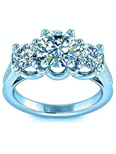 Custom Wedding Rings.Amazon Com 1 50 Tcw Past Present Future Round Diamond Three Stone