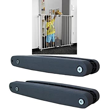 Geuther - Treppenschutzgitter Purelock aus Metall für Kinder, Hunde und Katzen, Befestigung mit Schrauben/Klemmen am Geländer, verstellbar, 61 - 107 cm