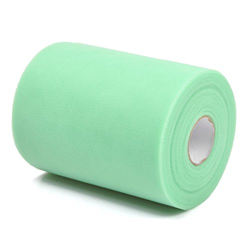 0.5' Ribbon Spool (Vsolucky Tulle Roll Spool Tutu Skirt Fabric 6 Inch x 100Yards (300FT) Wedding Party Table Runner Chair Sash Bow Sewing Crafting Fabric Craft Gift Ribbon (Mint green))