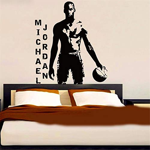 nimnae Quotes Wall Stickers Removable Vinyl Art Decal Michael Jordan Basketball Player NBA Super Star Sport Kids Room Boy Room Bedroom Home Décor