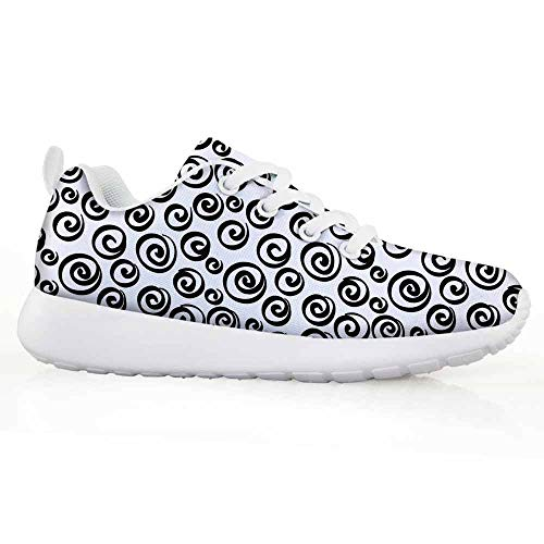 Price comparison product image Abstract Children Running Shoes Minimalist Spiral Turning Circular Vortex Round Forms Artistic Modern Dis