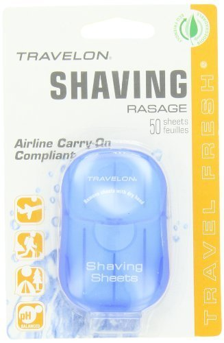 Travelon Shaving Toiletry Sheets, 50-Count by Travelon