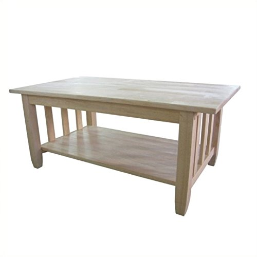Unfinished Mission Coffee Table - Pemberly Row Unfinished Mission Tall Coffee Table