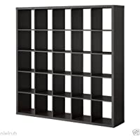 IKEA Kallax 5 x 5 Bookshelf Storage Shelving Unit Bookcase BLACK NEW Rep Expedit