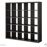 IKEA Kallax 5 x 5 Bookshelf Storage Shelving Unit Bookcase BLACK NEW Rep Expedit