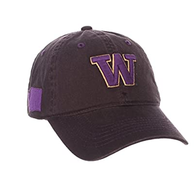 "Washington Huskies Zephyr Charcoal Gray ""Stateside"" Adj. Strap Slouch Hat Cap from Zephyr"