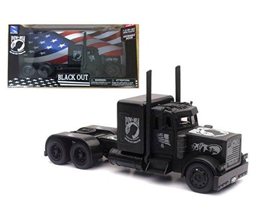 W/B-Peterbilt Black Out Pow/Mia Veterans' Tribute Diecast Vehicle (Peterbilt Diecast)