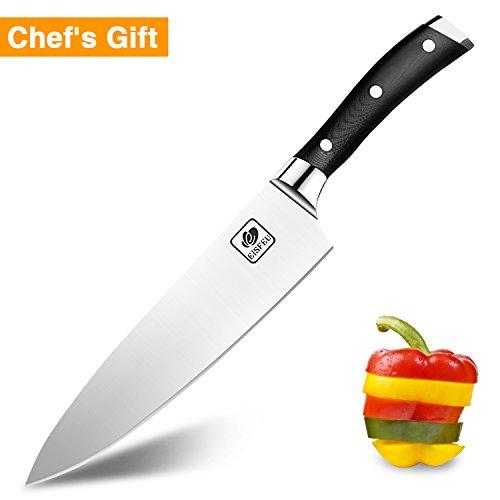 Compra Cuchillo de Chef, Eisfeu Cuchillo cocina de 20cm, Cuchillo cocinero, Hoja afilada, Cuchillo para pelar, Cuchillo cocinero, Mango de G10 ergonómico ...