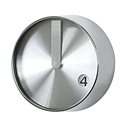 Time Concept Metal Wall Clock - Minimal - Silver - 8