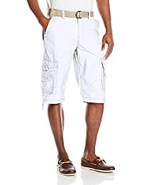 Men's Cordova Belted Cargo Short Messenger - Reg and Big & Tall Sizes