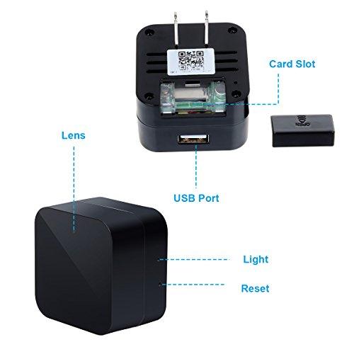 Spy Camera Wireless Hidden Cam Corprit Hd 1080p Wifi Usb