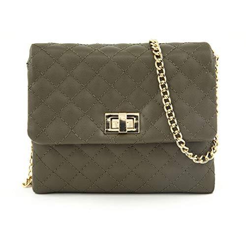 EMPERIA Qulited Convertible Crossbody Fanny Pack Belt Waist Bag Olive