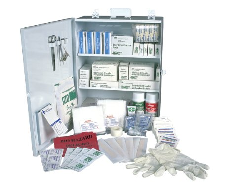 SAS Safety 6099-01 100-Person First-Aid Kit, Metal Cabinet