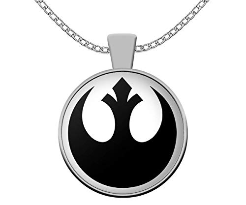 Jedi master coffee house Star Wars Fan Necklace Rebel Alliance Emblem Symbol Rebellion May The Force be with You Accessories Gift ()