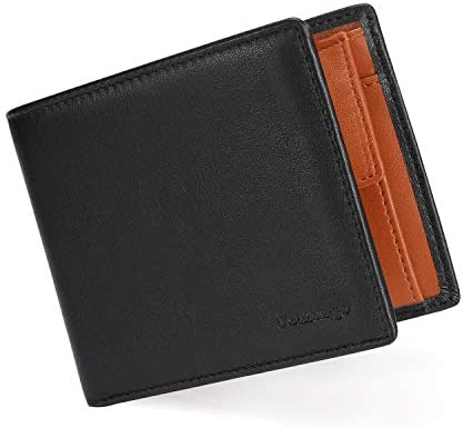 Vemingo Carteras para Hombre con Bolsillo de Moneda/Monedero con RFID Bloqueo para Tarjetas de Crédito Portamonedas Ligeros para Hombre/Adolescente (Xb-037 Marrón): Amazon.es: Equipaje