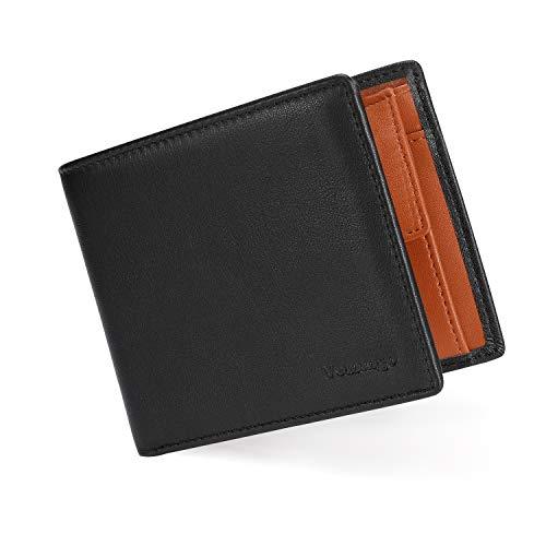 🥇 Vemingo Carteras para Hombre con Bolsillo de Moneda/Monedero con RFID Bloqueo para Tarjetas de Crédito Portamonedas Ligeros para Hombre/Adolescente