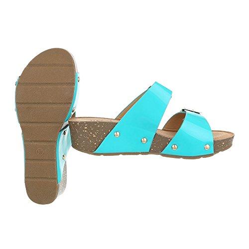 Ital-Design - zapatillas de baile (jazz y contemporáneo) Mujer turquesa