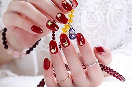24 uñas postizas de Spestyle, con punta de color rojo, de ...