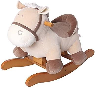 labebe Dondolo Bambini, Cavallo a Dondolo Legno, Cavalcabile Bambino&Bimba, Animale Asino Cavalcabile, Giochi Cavalcabili Neonato 1 3 Anno, Sedia
