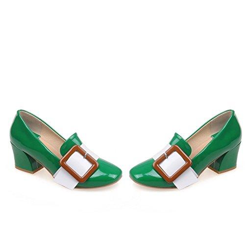 AIWEIYi Womens Round toe High Buckle Platform High toe Heels Slip-on Dress Pump Shoes B01LWKOZAC Platform 70f816