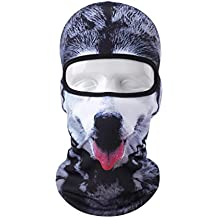 VERTAST Balaclava Face Mask, 2017 New Design 3D Animal Active Full Face Mask for Skiing Cycling Motorcycling Helmet Liner Hiking Camping Neck Warmer, Good-dog