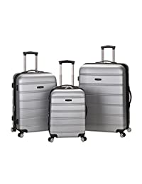 Rockland F160 Melbourne Abs Luggage Set, Silver, Medium, 3-Piece