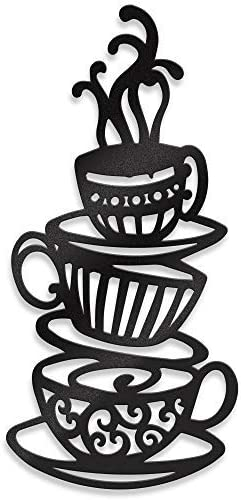 Metal Black Stacked Coffee Cup