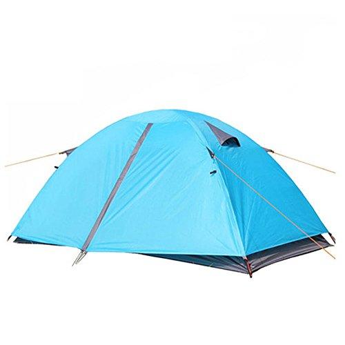 報復資料吹きさらし2人キャンプテント4シーズンダブルレインプロテクションバックパッキングテントは屋外スポーツのために組み立てる必要があります
