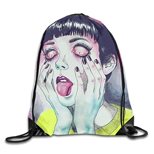 Men Women Goth Gotik Gothic Women Girl Art Gym Drawstring Backpacks Shoulder Bags Stylish Sack Backpack For Home Travel -