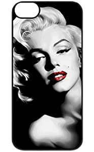 Color.Dream Black White Marilyn Monroe Hard Plastic Back Case Cover Phone Protective Case for iPhone 6 Plus (5.5 inch)