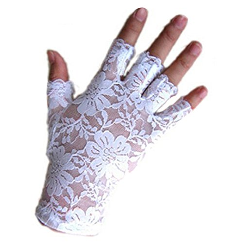 Polyt (White Lace Fingerless Gloves)