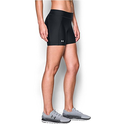 (Under Armour Women's Fly-By Compression Shorty, Black /Reflective, Large)