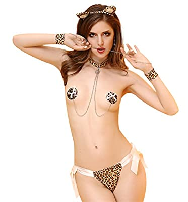 LifeVV Women Sexy Leopard Lingerie Bikini Underwear