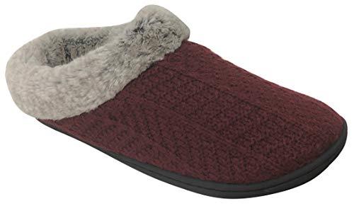 Dearfoams Women's Sweater Knit Clog Memory Foam Slipper