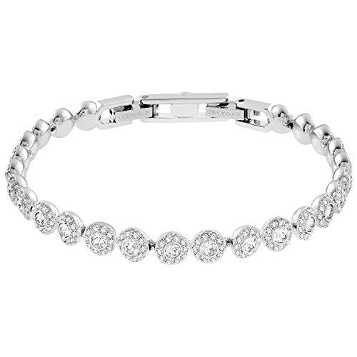 - Swarovski Authentic Crystal Angelic Rhodium Plated Stunningly Elegant White Bangle Bracelet