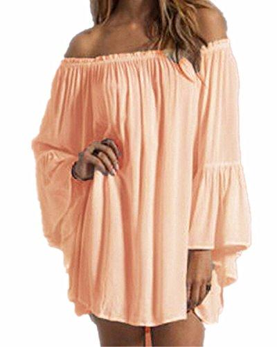 ZANZEA Womens Shoulder Chiffon Ruffle product image