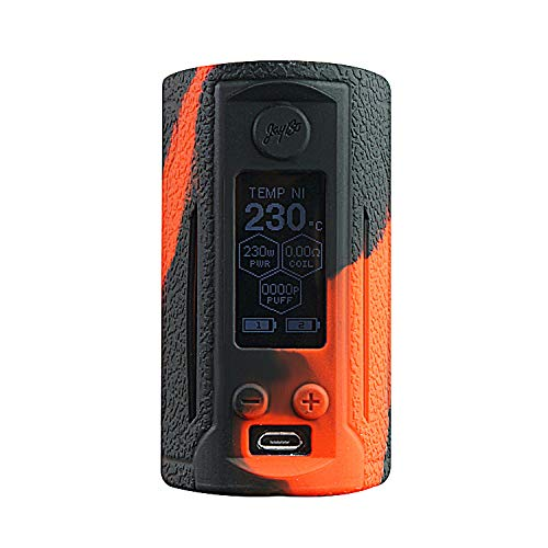DSC-Mart Texture Case for Wismec Reuleaux RX GEN3 Dual 230W,Protective Anti-Slip Silicone Skin Cover Sleeve Wrap Gel Fits RXGEN3 (BlackRed)