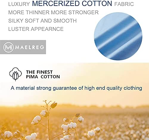 41wrNvhNJ2S. AC M MAELREG Men's Mercerized Cotton Short Sleeve Pima Polo Shirts Casual Collared Shirts    Product Description
