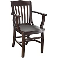 Beechwood Mountain BSD-2A-W Solid Beech Wood Kitchen and Dining Arm Chair, Walnut
